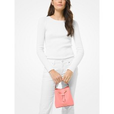 Michael Kors kabelka Suri small bucket saffiano leather grapefruit růžová