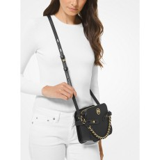 Michael Kors Carmen large crossbody saffiano leather černá