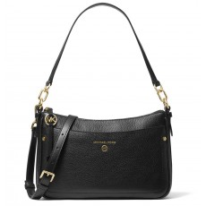 Michael Kors kabelka jet set medium pebbled leather černá