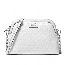 Michael Kors kabelka crossbody dome large logo bright white signature