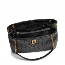 Karl Lagerfeld Lafayette quilted leather tote kabelka černá
