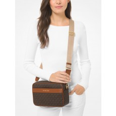 Michael Kors Kenly large logo crossbody brown hnědá