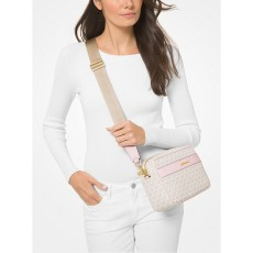 Michael Kors Kenly large logo crossbody vanilla/powder blush