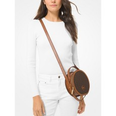 Michael Kors Aidy medium logo canteen crossbody brown hnědá