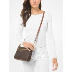 Michael Kors kabelka jet set small chain logo brown hnědá