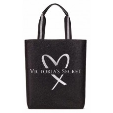Victoria's Secret fashion show glamour glitter tote black