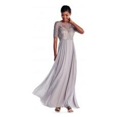 Adrianna Papell luxusní společenské dlouhé šaty platinum s vyšívaným topem d2341a97b7