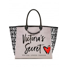 Victoria´s Secret Angel city heart tote gray