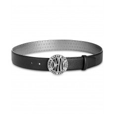 DKNY pásek Subway token logo-buckle black
