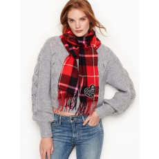 Victoria´s Secret lehká zimní šála Angel heart red plaid