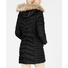 Dámská bunda Laundry by Shelli Segal quilted-panel puffer coat black