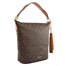 Michael Kors kabelka Elana large signature brown