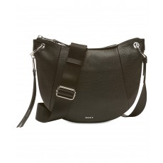 DKNY Tompson crossbody pebble leather black/silver