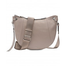 DKNY Tompson crossbody pebble leather gray/silver