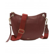 DKNY Tompson crossbody pebble leather red/gold